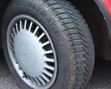 Saab 9000i on winter tyres