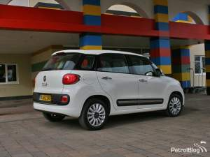Rear of Fiat 500L at Legoland Hotel