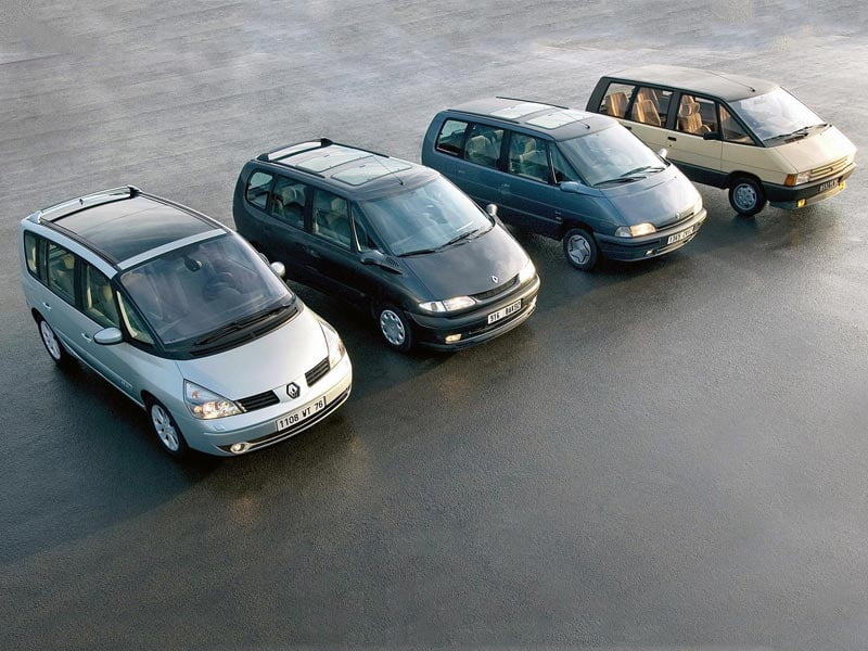 Four generations of Renault Espace