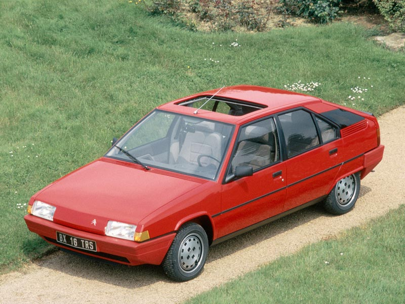Red Citroen BX with sunroof