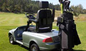 Volvo C70 electric golf cart