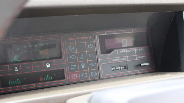 MG Maestro 1600 dashboard