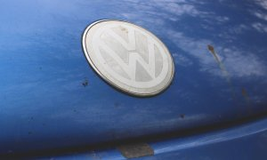 Faded Volkswagen Beetle badge
