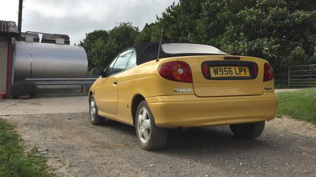 Yellow Renault Megane Cabriolet