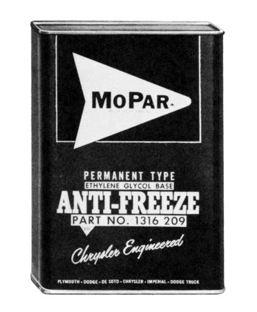 1930s - The Mopar brand, a contraction of the words Motor Parts, is born on August 1, 1937, as the name of a line of antifreeze products.