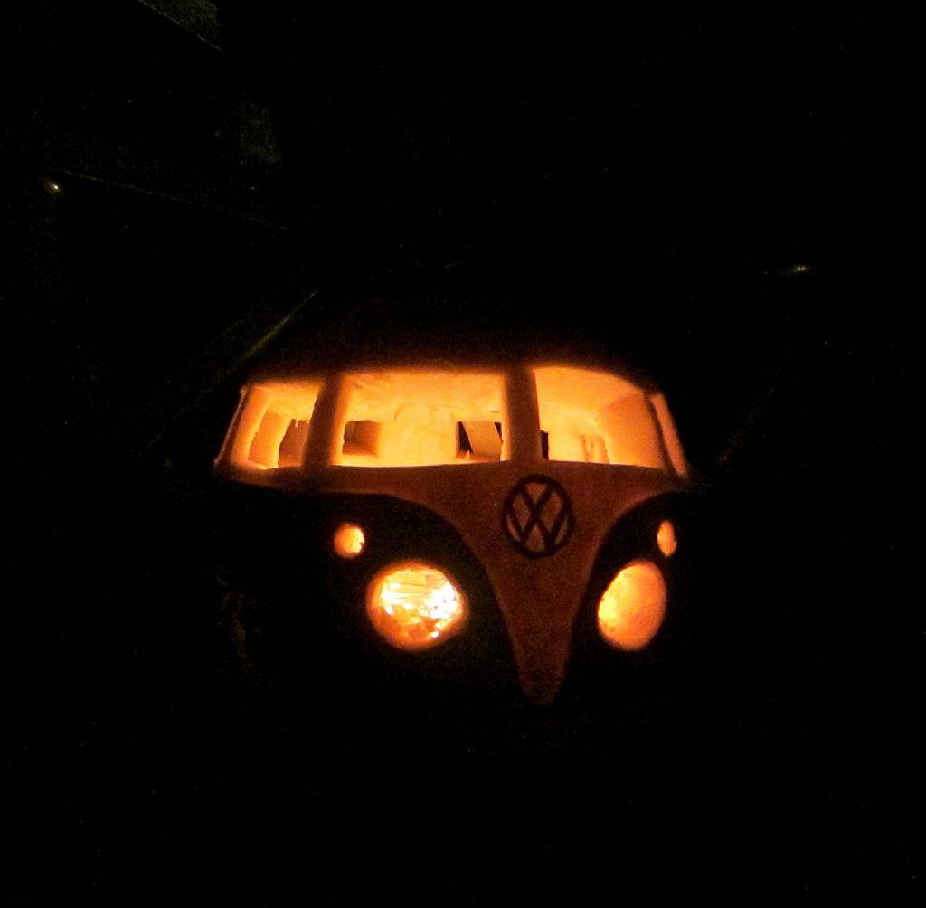 vw camper pumpkin carving