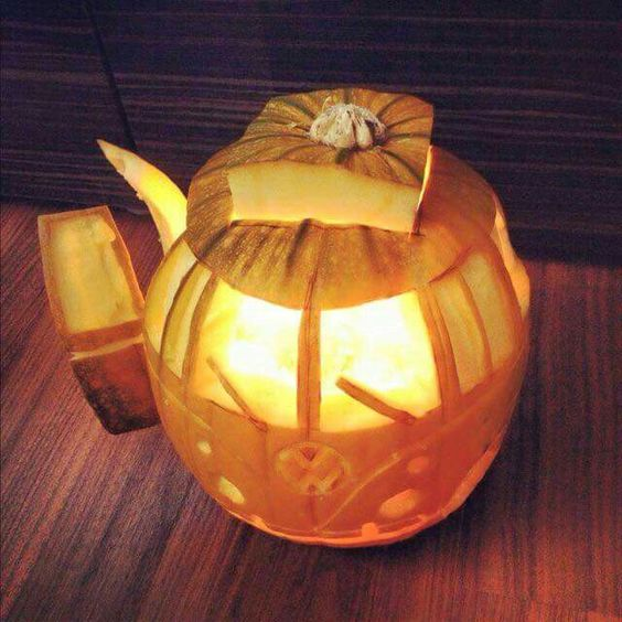 vw camper car pumpkin carving