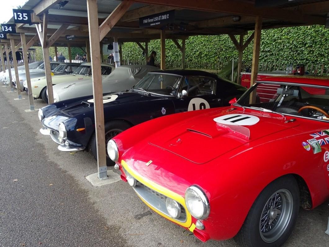 Ferrari's at the Goodwood Revival 2017