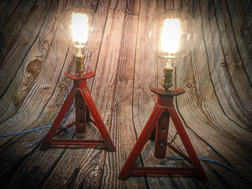Axle stand lights