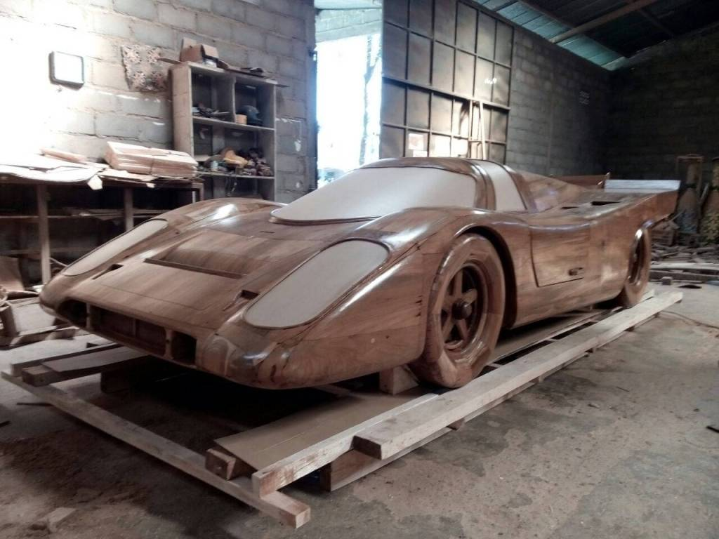 Real size Wooden Porsche 917