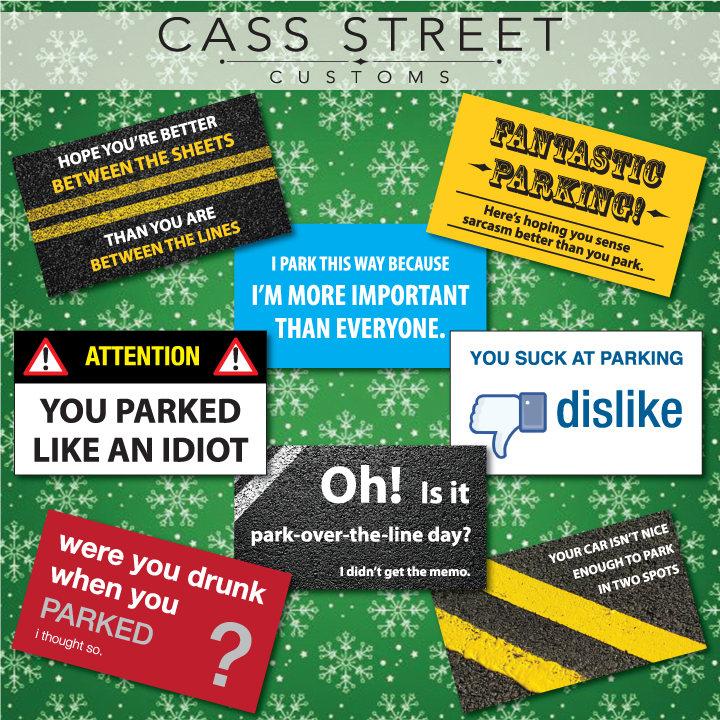 Bad Parking Cards - Set of 24