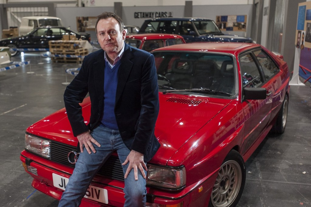 Philip Glenister reunited with his Ashes to Ashes Audi quattro at The London Classic Car Show 2018