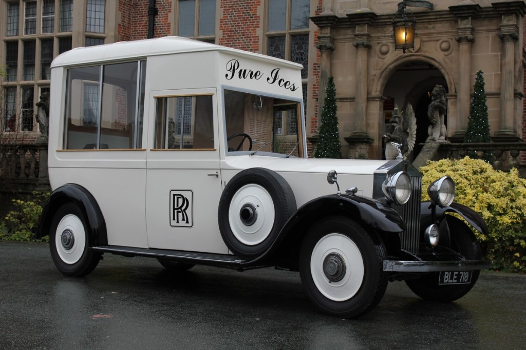 Rolls Royce ice cream van at Crewe Hall