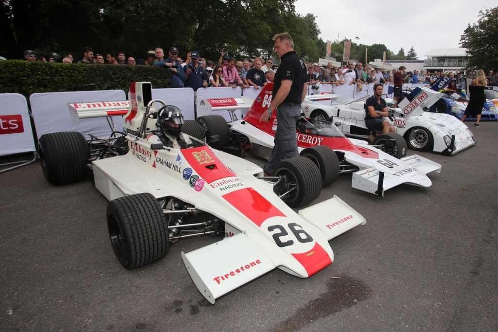 Jamie Constable driving Lola-Ford T370 - Goodwood Festival of Speed 2018