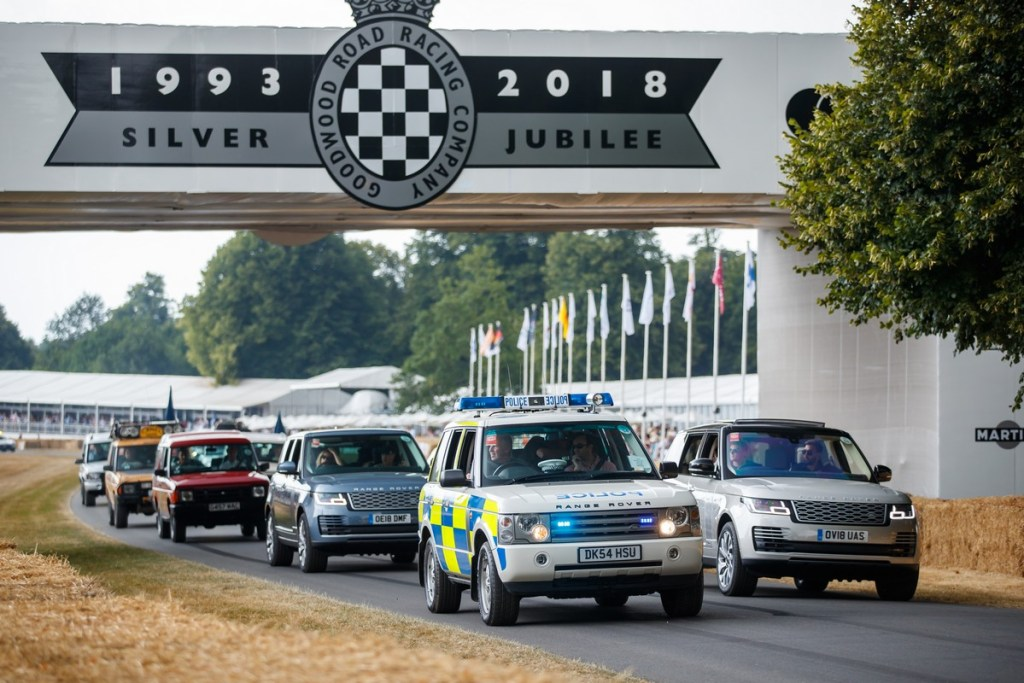 Land Rover celebrates 70 years with the largest ever parade of vehicles on Goodwood Hill