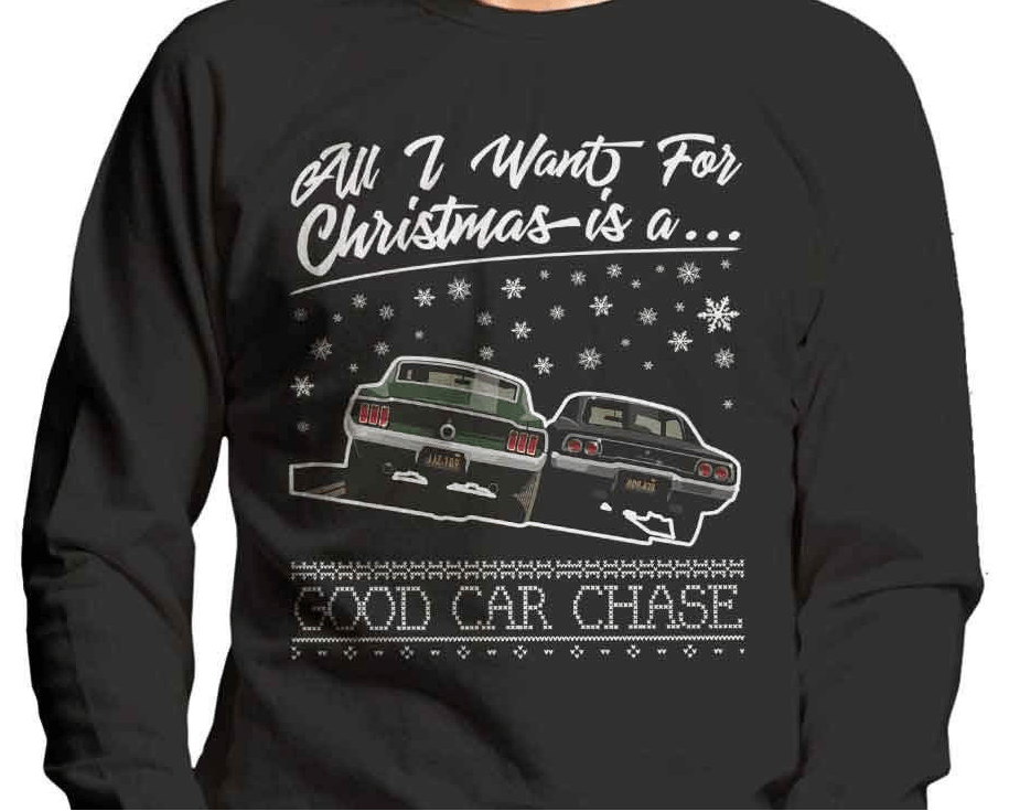 All I want for Christmas is a good car chase xmas jumper