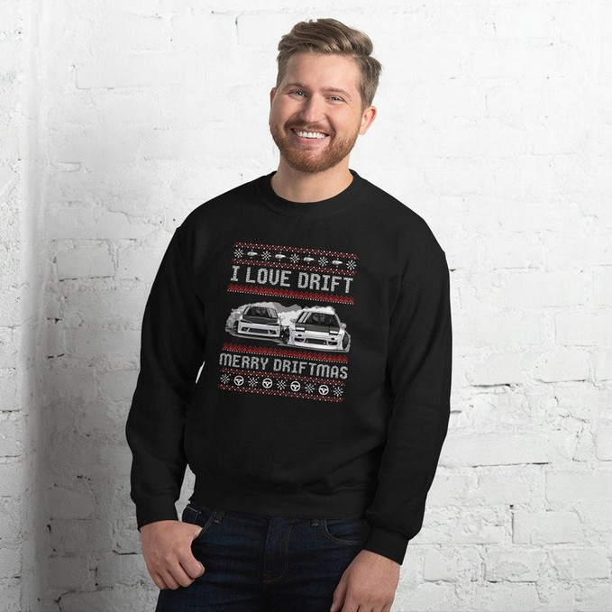 Merry driftmas car Christmas jumper