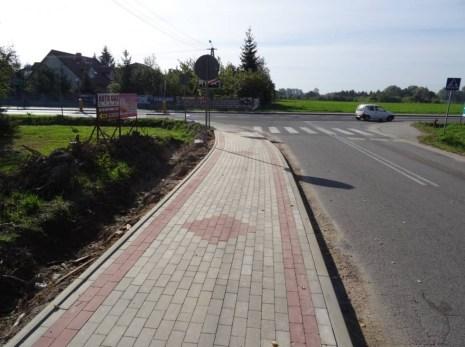 Chodnik w Stróżewku