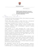 Pismo prezydenta Płocka z 09.03.2017 przesłane przez mobiDziennik