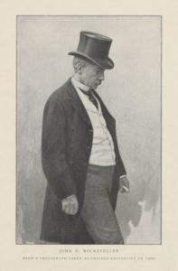 Photographie noir et blanc de John Davison Rockefeller
