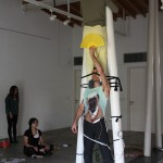 "Phedon Odysseos/Christina Vrahimi/Demetra Kallitsi/Petros Konnaris, from the Performance Art workshop ""SenseSelfEssence by Christina Georgiou, 31 Oct.-2 Nov. 2014, ARTos Foundation, Nicosia - Cyprus"