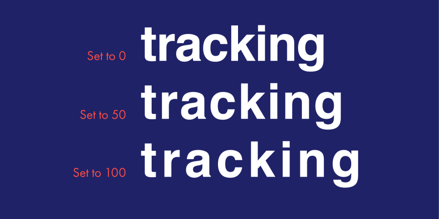 Tracking is also known as letter spacing.