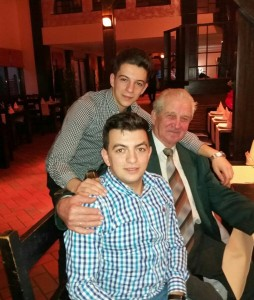 Bunicul, Costin şi eu