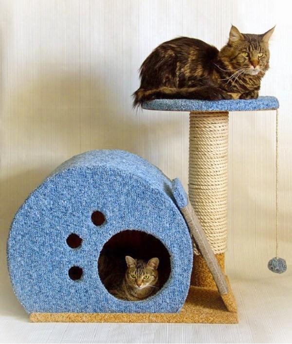 Casa para o gato faz você mesmo