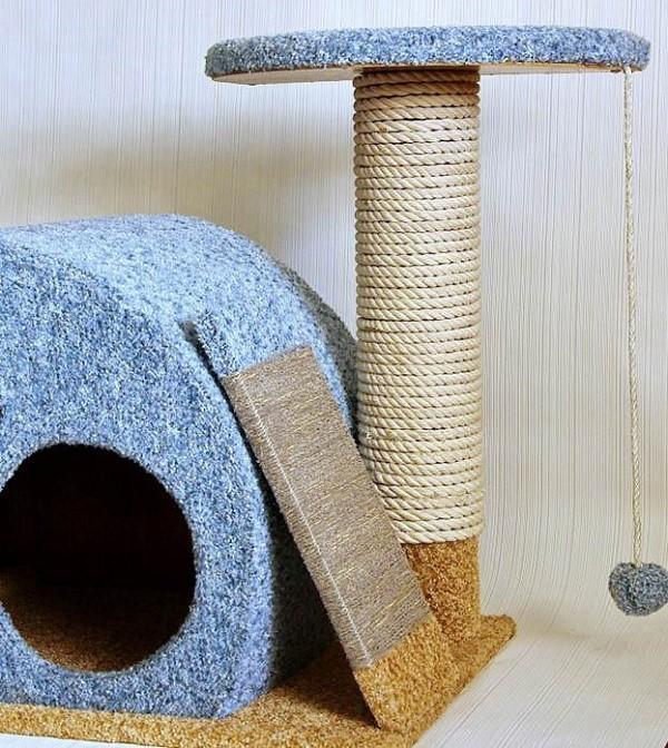Hvad ser en færdigfremstillet Cat Lodge ud fra instruktion №1
