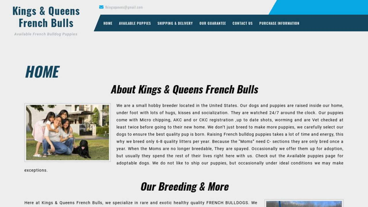 Puppy Scammer List Website: Queenskingsfrenchbulls com Kings