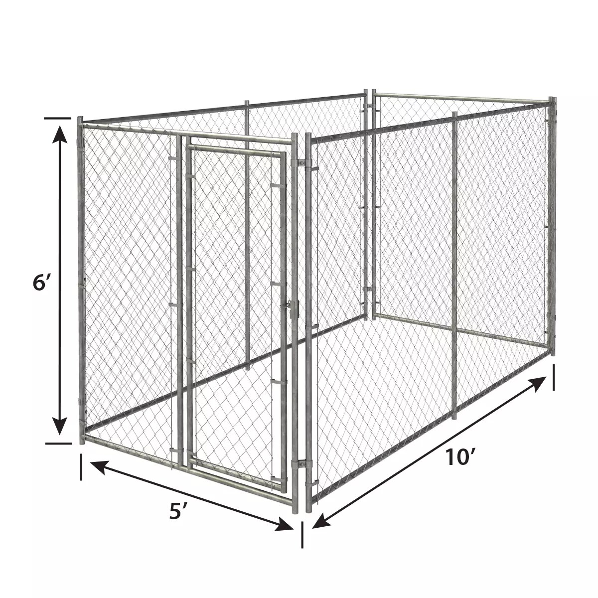 6ft H X 10ft W Chain Link Kennel Panel