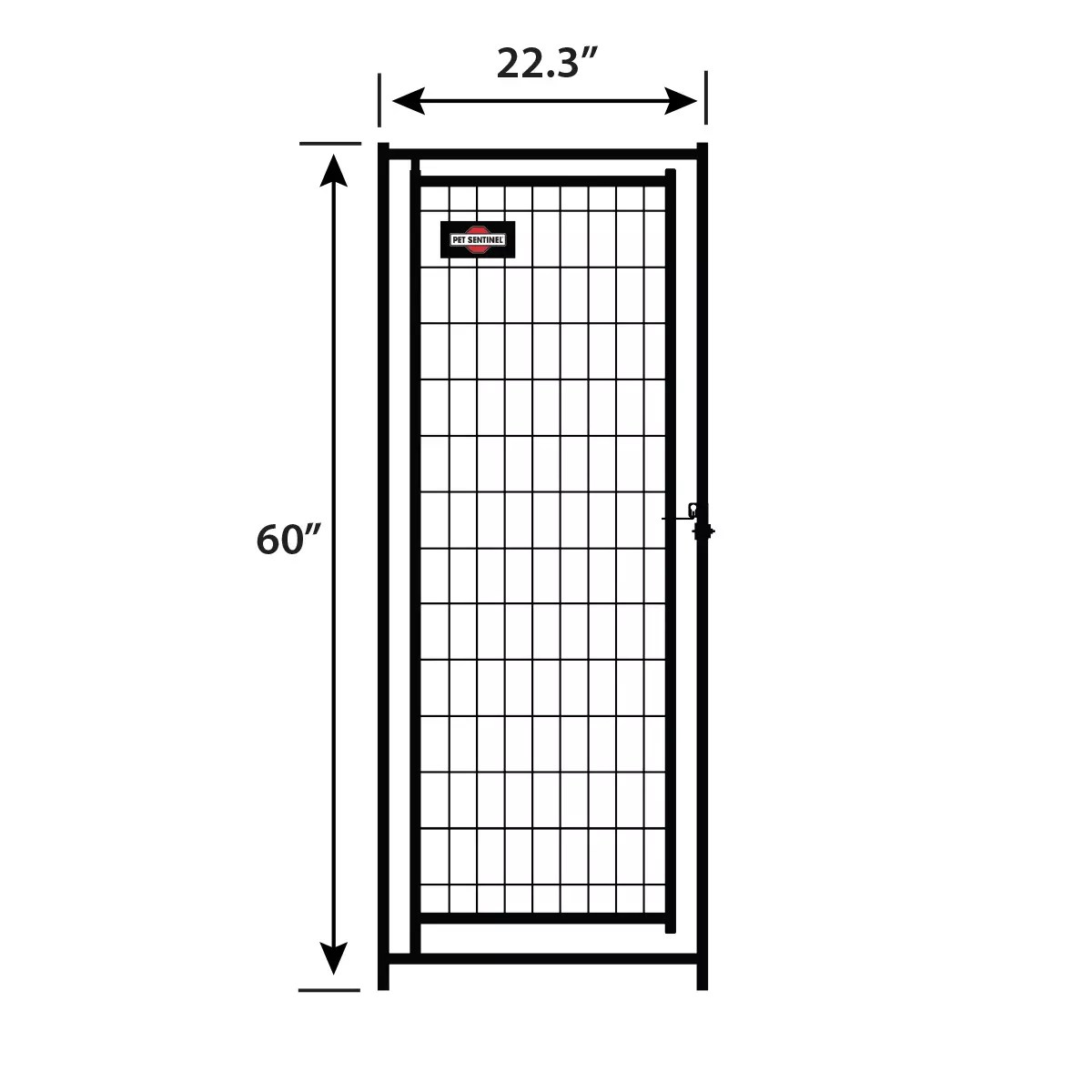 5ft H X 2ft W Welded Mesh Black Gate