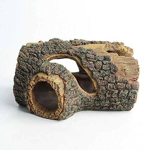 "Beautiful 6.5/"" Resin Aquarium Hollow Tree Trunk Decoration//Ornament SHIP FROM US"