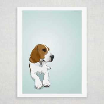 Beagle Art Prints