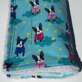 Boston Terrier Baby Blanket