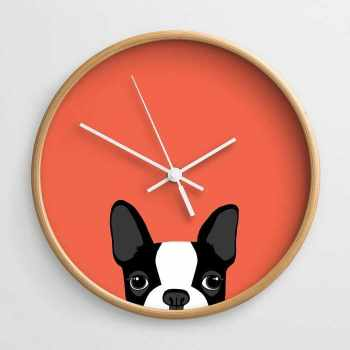 Boston Terrier Clock