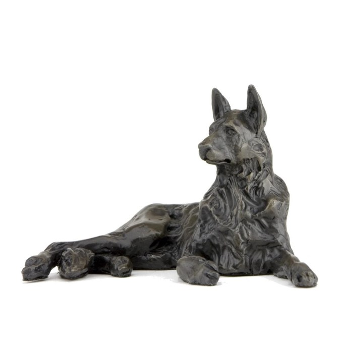 Bronze German Shepherd Statue