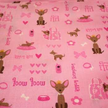 Chihuahua Fleece Fabric