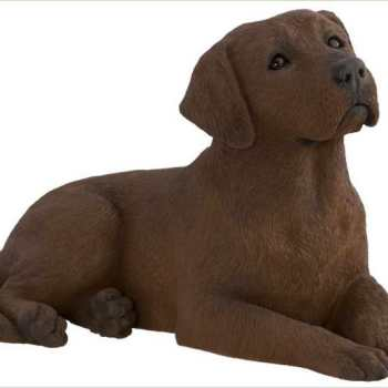 Chocolate Labrador Figurine