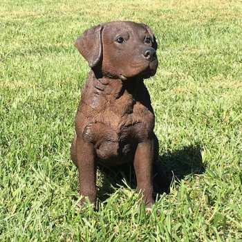 Chocolate Labrador Statues