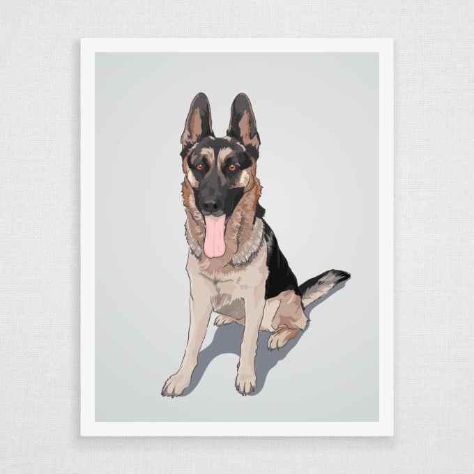 German Shepherd Art Prints