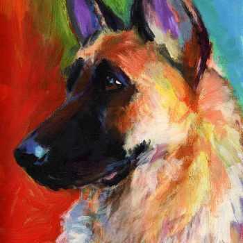 German Shepherd Paintings