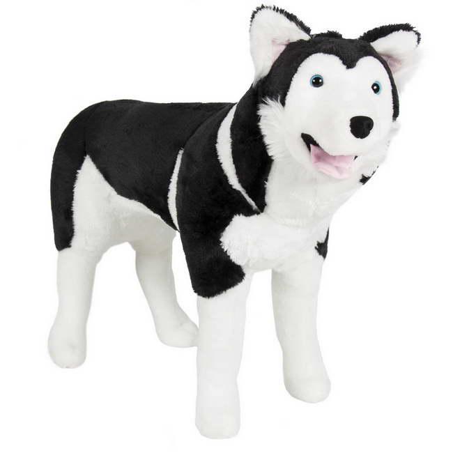 Large Stuffed Husky Dog