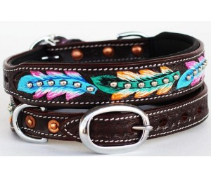 ProRider Dog Collar, Brown Rhinestone Crystal