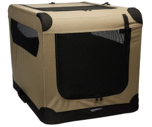 AmazonBasics Portable Folding Soft Dog Travel Crate Kennel review