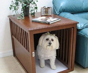 Crown Pet Products Wood Pet Crate End Table review
