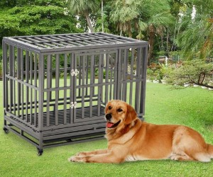 LuckUp Heavy Duty Dog Crate Strong Metal Kennel and Crate for Large Dogs review
