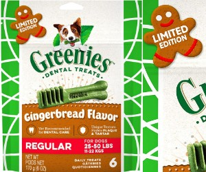 Greenies Holiday Gingerbread Flavor Dental Dog Treats review