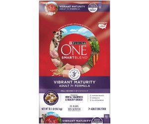 Purina ONE Senior Dog Food, SmartBlend Vibrant Maturity Adult 7+ review