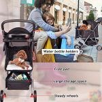 4-Wheels-Pet-Stroller-Cat-Dog-Cage-Stroller-Travel-Folding-Carrier-with-Cup-Holders-and-Removable-Liner-for-Small-Medium-Dog-Cat-0-1